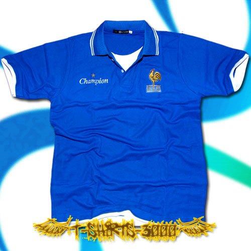 FRANCE BLUE SOCCER POLO T-SHIRT FOOTBALL Size L / G50