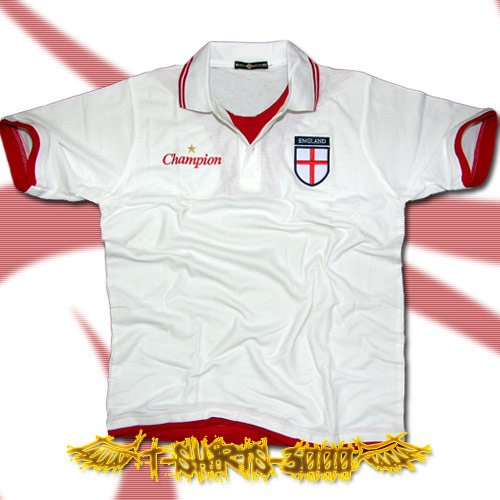 ENGLAND WHITE FOOTBALL POLO T-SHIRT SOCCER Size L / G53