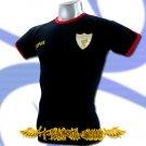 LIVERPOOL GOLD DARK BLUE FOOTBALL T-SHIRT SOCCER Size M / i35