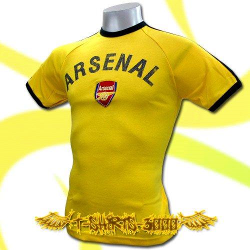 ARSENAL YELLOW FOOTBALL ATHLETIC T-SHIRT SOCCER Size M / J18