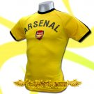 ARSENAL YELLOW FOOTBALL ATHLETIC T-SHIRT SOCCER Size M / J18