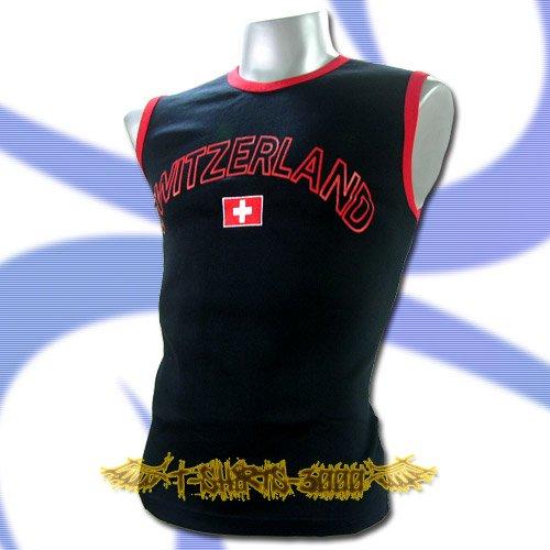 SWITZERLAND DARK BLUE SLEEVELESS T-SHIRT SOCCER Size M / L32