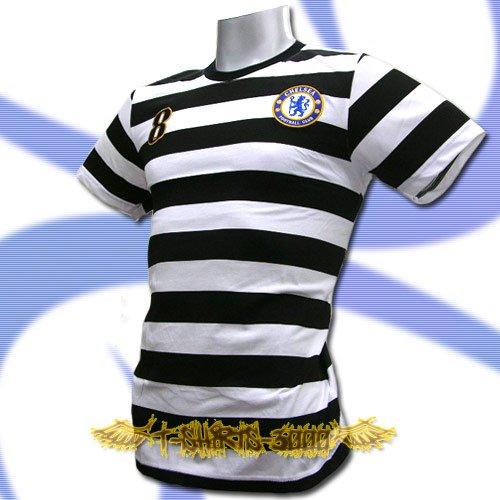 CHELSEA BLACK/WHITE FOOTBALL T-SHIRT SOCCER Size L / L57
