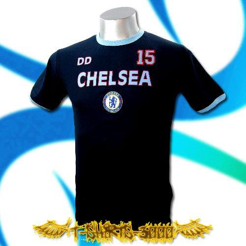 CHELSEA DARK BLUE SOCCER TEE T-SHIRT FOOTBALL Size M / A24