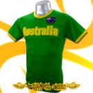 AUSTRALIA GREEN FOOTBALL TEE T-SHIRT SOCCER Size M / E13