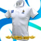 FRANCE WHITE #10 POLO FOOTBALL T-SHIRT SOCCER Size M / F49