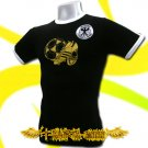 GERMANY GERMAN GOLD BLACK SOCCER T-SHIRT FOOTBALL Size M / i52