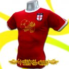 ENGLAND RED FOOTBALL COOL T-SHIRT SOCCER Size M / i54
