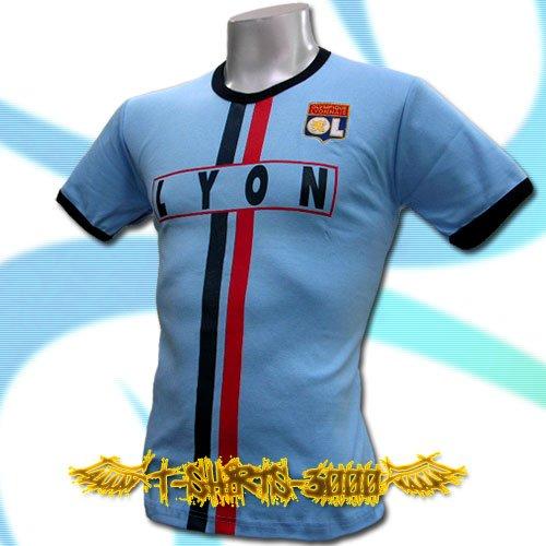 OLYMPIQUE LYONNAIS BLUE FOOTBALL T-SHIRT SOCCER Size M / J50