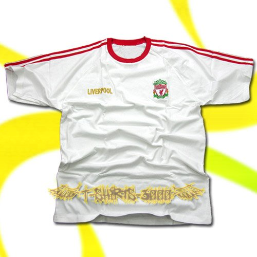 LIVERPOOL WHITE FOOTBALL T-SHIRT SOCCER Size XL / K64