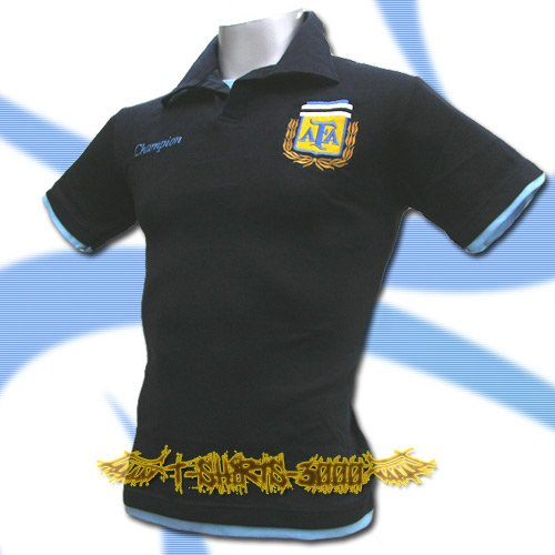 ARGENTINA DARK BLUE FOOTBALL POLO T-SHIRT SOCCER Size M / K76