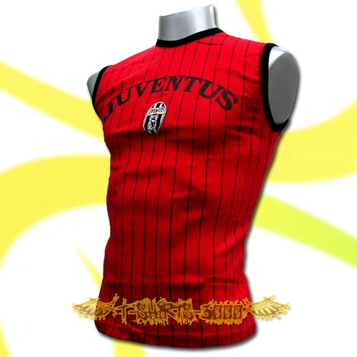 JUVENTUS RED SLEEVELESS SOCCER T-SHIRT FOOTBALL Size M / K97