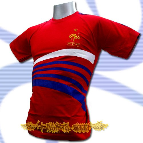FRANCE RED FOOTBALL COOL T-SHIRT SOCCER Size L / L76