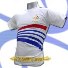 FRANCE WHITE FOOTBALL COOL T-SHIRT SOCCER Size L / L77