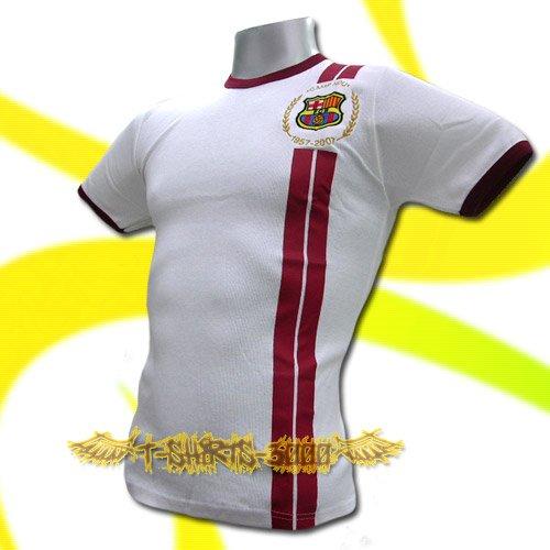 BARCELONA WHITE #14 FOOTBALL TEE T SHIRT SOCCER / K83