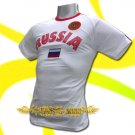 RUSSIA WHITE ATHLETIC FOOTBALL TSHIRT SOCCER Size M / L79