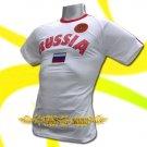 RUSSIA WHITE ATHLETIC FOOTBALL TSHIRT SOCCER Size M / L79