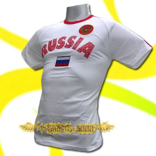 RUSSIA WHITE ATHLETIC FOOTBALL TSHIRT SOCCER Size L / L82