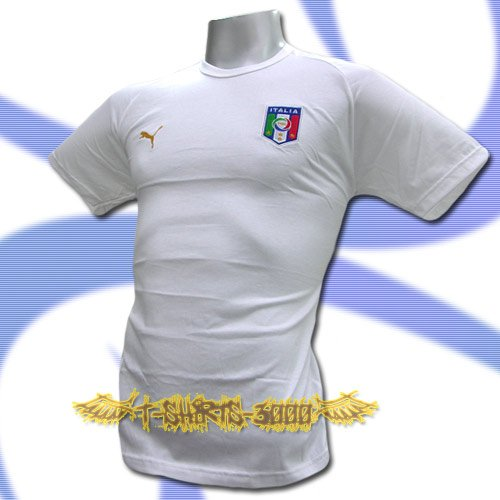 ITALY WHITE ITALIA FOOTBALL COOL T SHIRT SOCCER Size L / M14