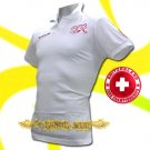 SWITZERLAND WHITE FOOTBALL POLO T SHIRT SOCCER Size M / M49