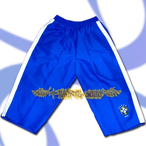 BRAZIL BRASIL BLUE FOOTBALL COOL SHORTS SOCCER / H29