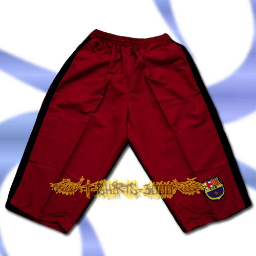 BARCELONA RED MAROON FOOTBALL COOL SHORTS SOCCER / H32