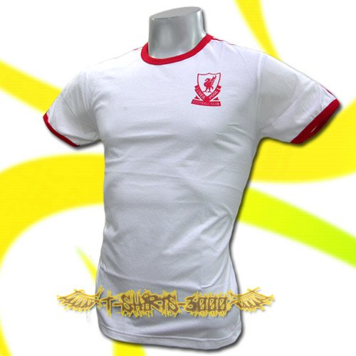 LIVERPOOL WHITE FOOTBALL TEE T-SHIRT SOCCER Size M / J17
