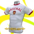 ARSENAL WHITE FOOTBALL ATHLETIC T-SHIRT SOCCER Size M / J19