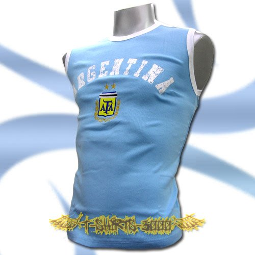 ARGENTINA BLUE SLEEVELESS SOCCER T-SHIRT FOOTBALL Size M / L30