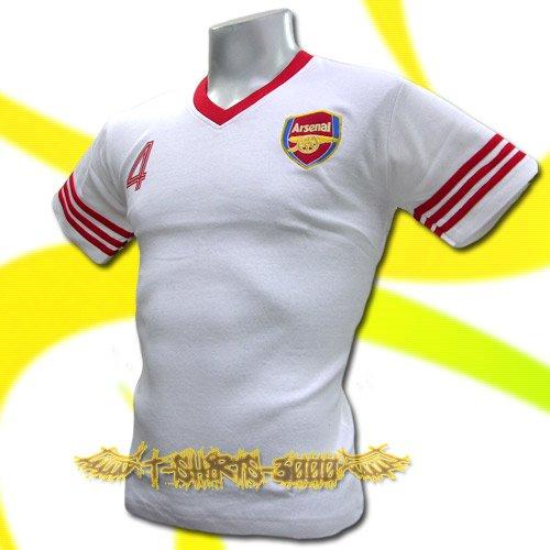ARSENAL WHITE SOCCER TEE T-SHIRT FOOTBALL Size M / J86