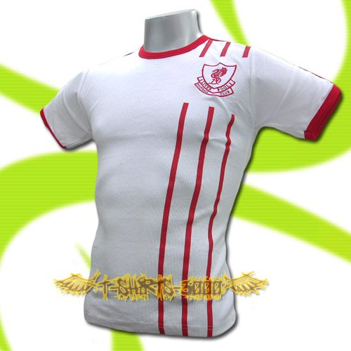 LIVERPOOL WHITE #8 FOOTBALL T SHIRT TEE SOCCER Size M / K87