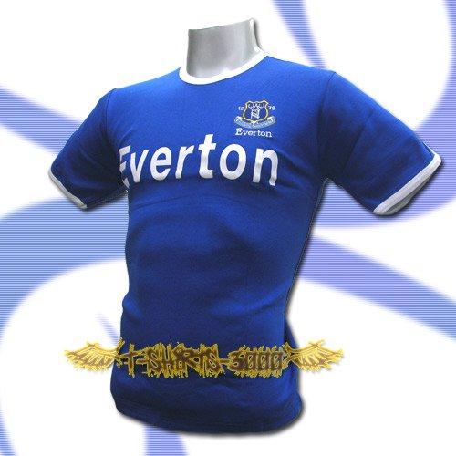 EVERTON BLUE SOCCER TEE T-SHIRT FOOTBALL Size M / L46