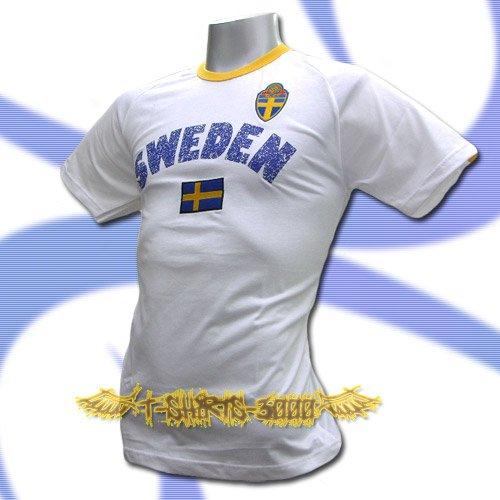 SWEDEN WHITE FOOTBALL TEE T SHIRT SOCCER Size M / L66
