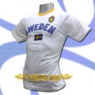 SWEDEN WHITE FOOTBALL TEE T SHIRT SOCCER Size M / L66