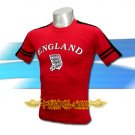 ENGLAND RED SOCCER TEE T SHIRT FOOTBALL Size M / A33