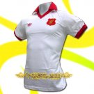 LIVERPOOL WHITE FOOTBALL RETRO POLO T SHIRT SOCCER Size M / K19