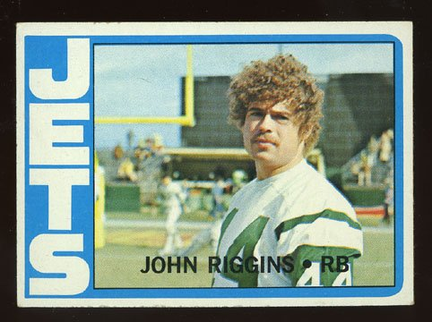John Riggins Rookie 1972 Topps # 13 New York Jets