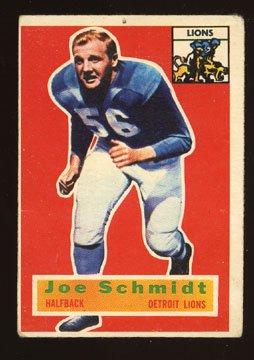Joe Schmidt Rookie 1956 Topps # 44 Detroit Lions