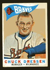 Chuck Dressen 1960 Topps Baseball # 213 Milwaukee Braves