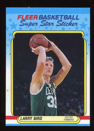 Larry Bird 1988-89 Fleer Basketball Sticker # 2