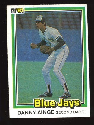 Danny Ainge Rookie, 1981 Donruss # 569, Blue Jays