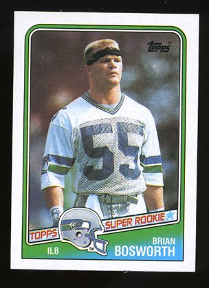 Brian Bosworth Rookie, 1988 Topps # 144, Seahawks