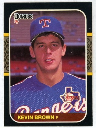 Kevin Brown Rookie 1987 Donruss # 627 Rangers Pitcher