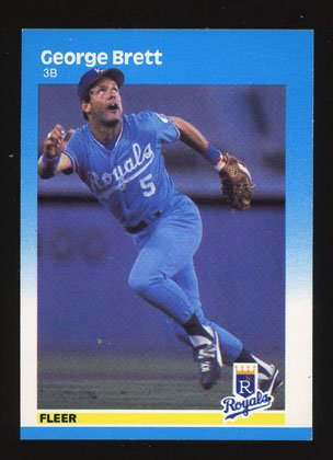 George Brett 1987 Fleer # 366 Kansas City Royals