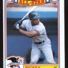 Rickey Henderson 1989 Topps Insert # 7 '88 All Star Game