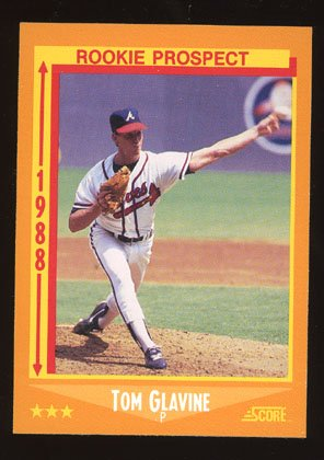 Tom Glavine Rookie 1988 Score # 638 Pitcher Atlanta Braves