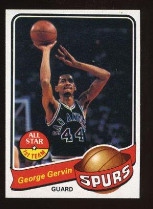 George Gervin 1979-80 Topps Basketball # 1 San Antonio Spurs Guard