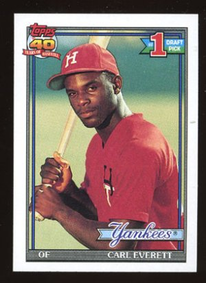 Carl Everett Rookie 1991 Topps # 113 Outfield New York Yankees