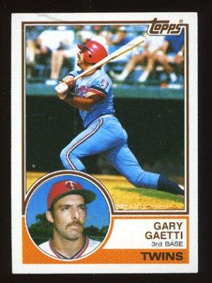 Gary Gaetti Rookie 1983 Topps # 431 Third Base Minnesota Twins