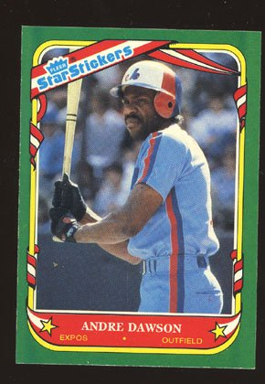 Andre Dawson 1987 Fleer Star Sticker # 33 Outfield Montreal Expos